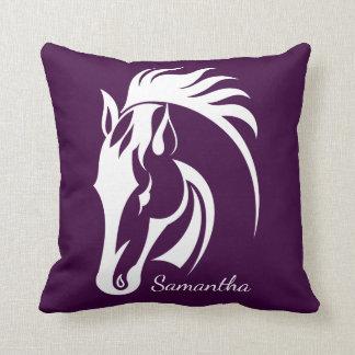 Beautiful White Horse Design Throw Pillow
