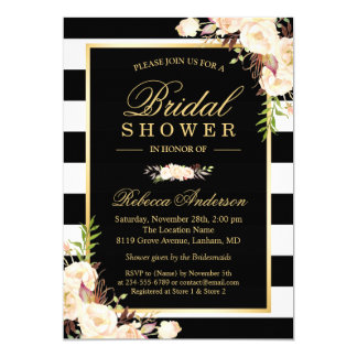 Beautiful White Ivory Flowers Winter Bridal Shower Card