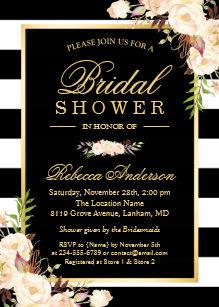 a437be30e42 Beautiful White Ivory Flowers Winter Bridal Shower Invitation