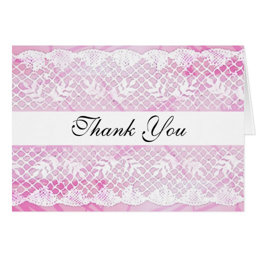 Beautiful Thank You Cards Captivating Of Beautiful White Lace Thank You Card | Zazzle Photos