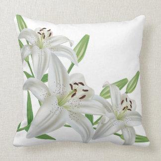 Beautiful White Lily Throw Pillow