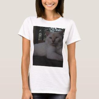 Beautiful White, long haired cat T-Shirt