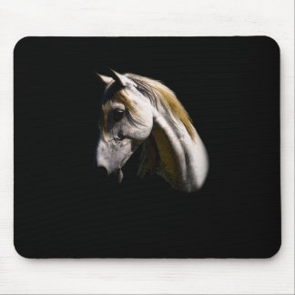Beautiful White Mare Ranch Horse Photo Portrait Mouse Pad