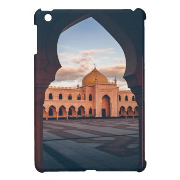Beautiful white mosque in the sunset light case for the iPad mini
