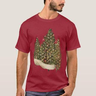 Beautiful White Peacock & Christmas Trees T-Shirt
