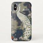 Beautiful White Peacock in Pine Tree iPhone X Case