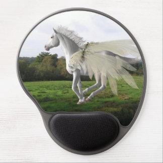 Beautiful White Pegasus Gel Mousepad
