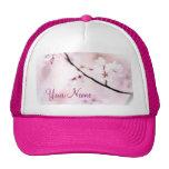 Beautiful White Pink Cherry Blossoms Sunshine Tree Trucker Hat