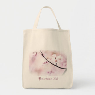 Beautiful White Pink Cherry Blossoms Sunshine Tree Tote Bag