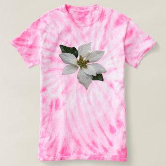 Beautiful White Poinsettia Christmas Flower T-shirt