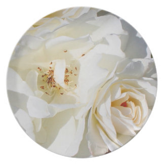 Beautiful white rose bouquet plate