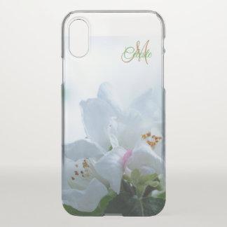 Beautiful White Roses Monogram iPhone X Case