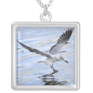Beautiful white Seagull flying Necklace