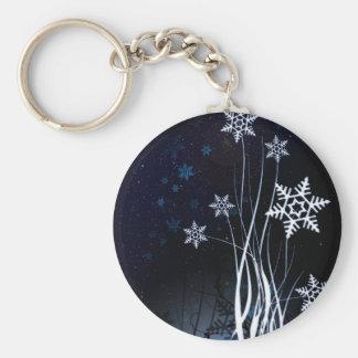 Beautiful white snow flower key chains
