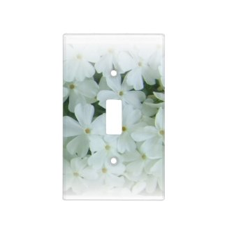 Beautiful white spring flowers light switch cover