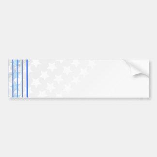 Beautiful white star pattern bumper sticker