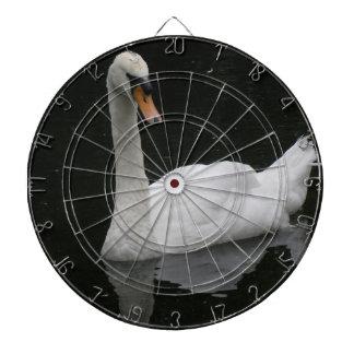 Beautiful White Swan Dart Board