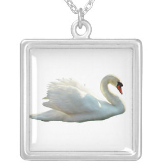 Beautiful white Swan Necklace