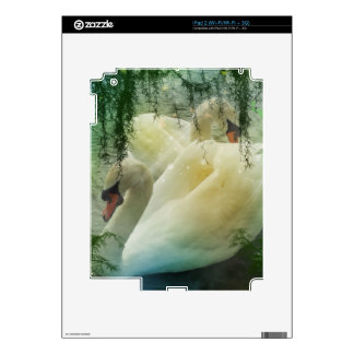Beautiful White Swans Decal For iPad 2