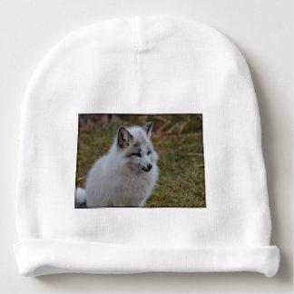 Beautiful White Swift Fox Baby Beanie