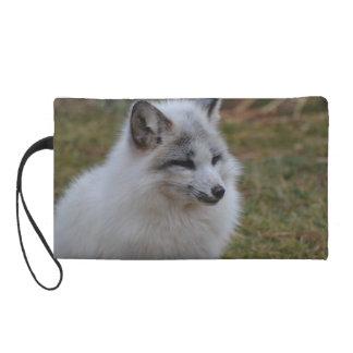Beautiful White Swift Fox Wristlet