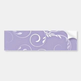 Beautiful white swirls on indigo background bumper sticker