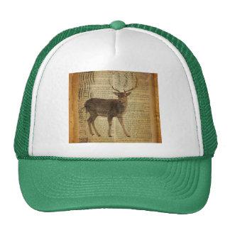 beautiful white tale deer mesh hats