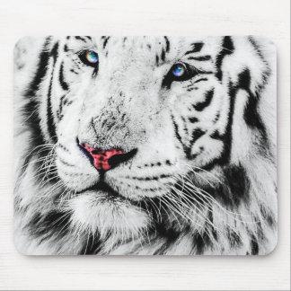 Beautiful White Tiger Portrait Mouse Pad