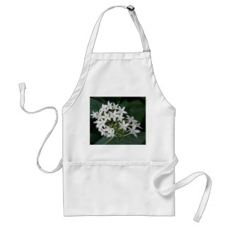 Beautiful White Tropical Flowers Apron