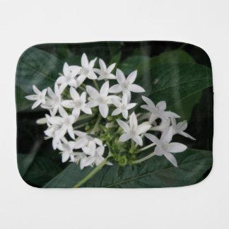 Beautiful White Tropical Flowers Burp Cloth