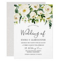 Beautiful White Wedding Flowers All seasons Invite