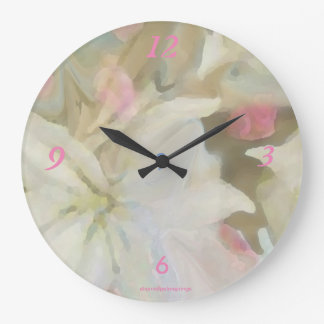 Beautiful White with Rose(Large) Wall Clock