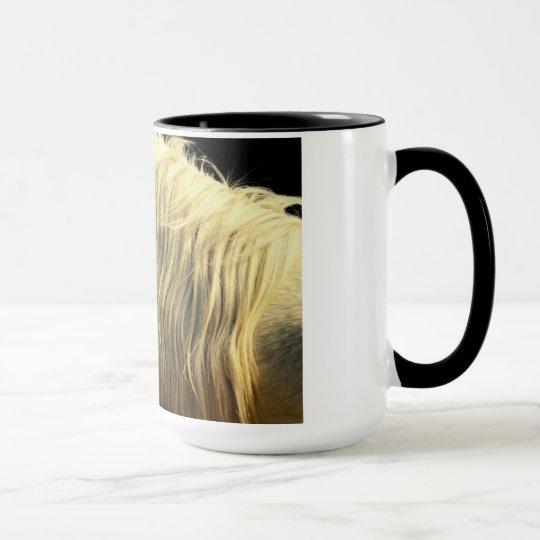Beautiful Whtie Horse and its Mane Mug
