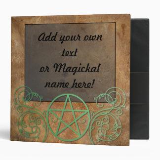 Beautiful Wiccan Poem 3 Ring Binder