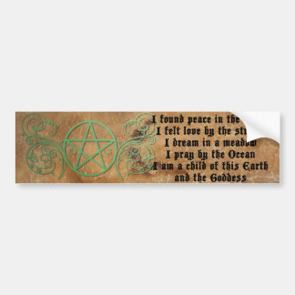 Beautiful Wiccan Poem Bumper Sticker