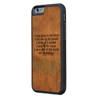 Beautiful Wiccan Poem Carved Cherry iPhone 6 Bumper Case
