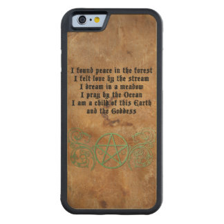 Beautiful Wiccan poem Carved Maple iPhone 6 Bumper Case