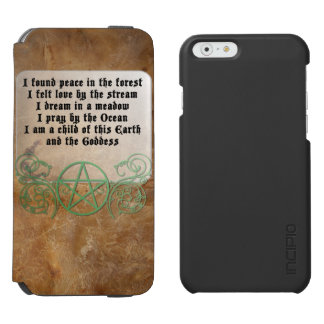 Beautiful Wiccan Poem iPhone 6/6s Wallet Case