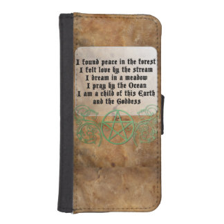 Beautiful Wiccan Poem iPhone SE/5/5s Wallet
