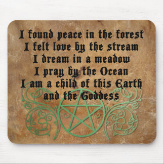Beautiful Wiccan Poem Mouse Pad