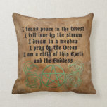 Beautiful Wiccan poem Pillow