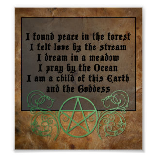 Beautiful Wiccan poem Poster