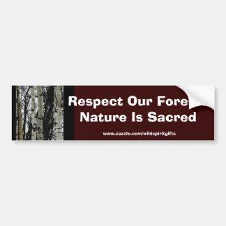 Beautiful Wilderness Scene from Nature Bumper Sticker