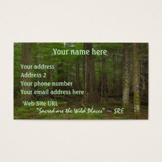 Beautiful Wilderness Scene from Nature Business Card