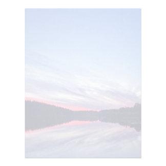 Beautiful Wilderness Sunset over Lake Photo Letterhead