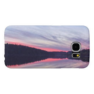 Beautiful Wilderness Sunset over Lake Photo Samsung Galaxy S6 Cases
