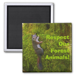 Beautiful Wildlife Design for Animal-lover 2 Inch Square Magnet