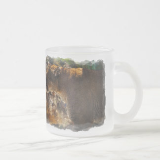 Beautiful Wildlife Design for Animal-lovers Frosted Glass Coffee Mug