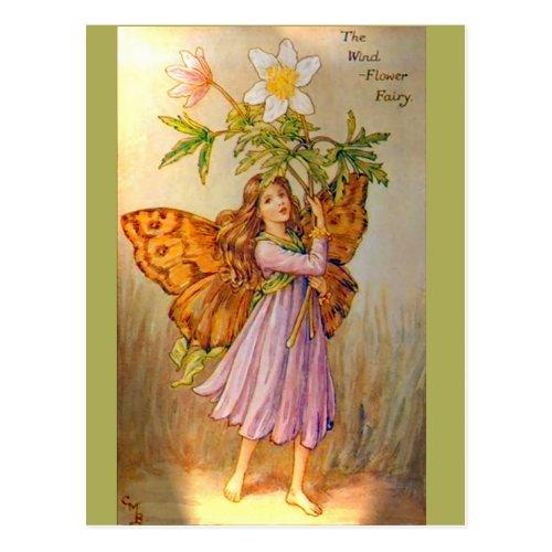 Beautiful Wind Flower Fairy Postcard