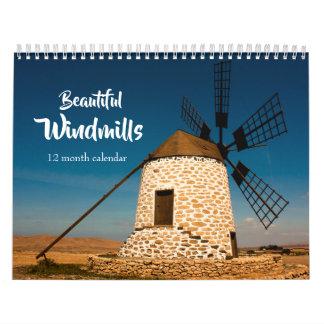 Beautiful Windmills 2019 Calendar